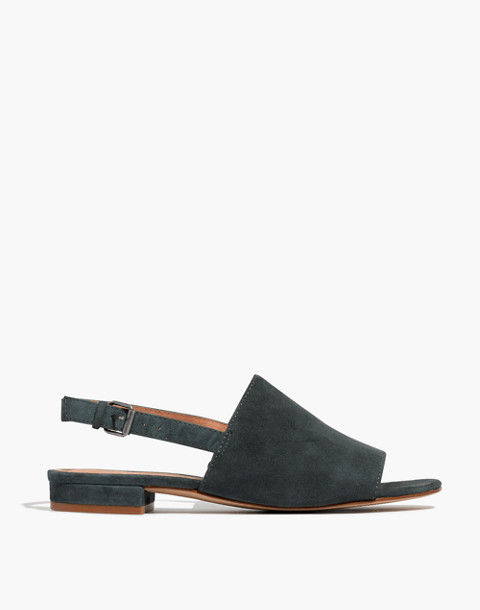 The Noelle Slingback Sandal in Suede in midnight spruce image 3