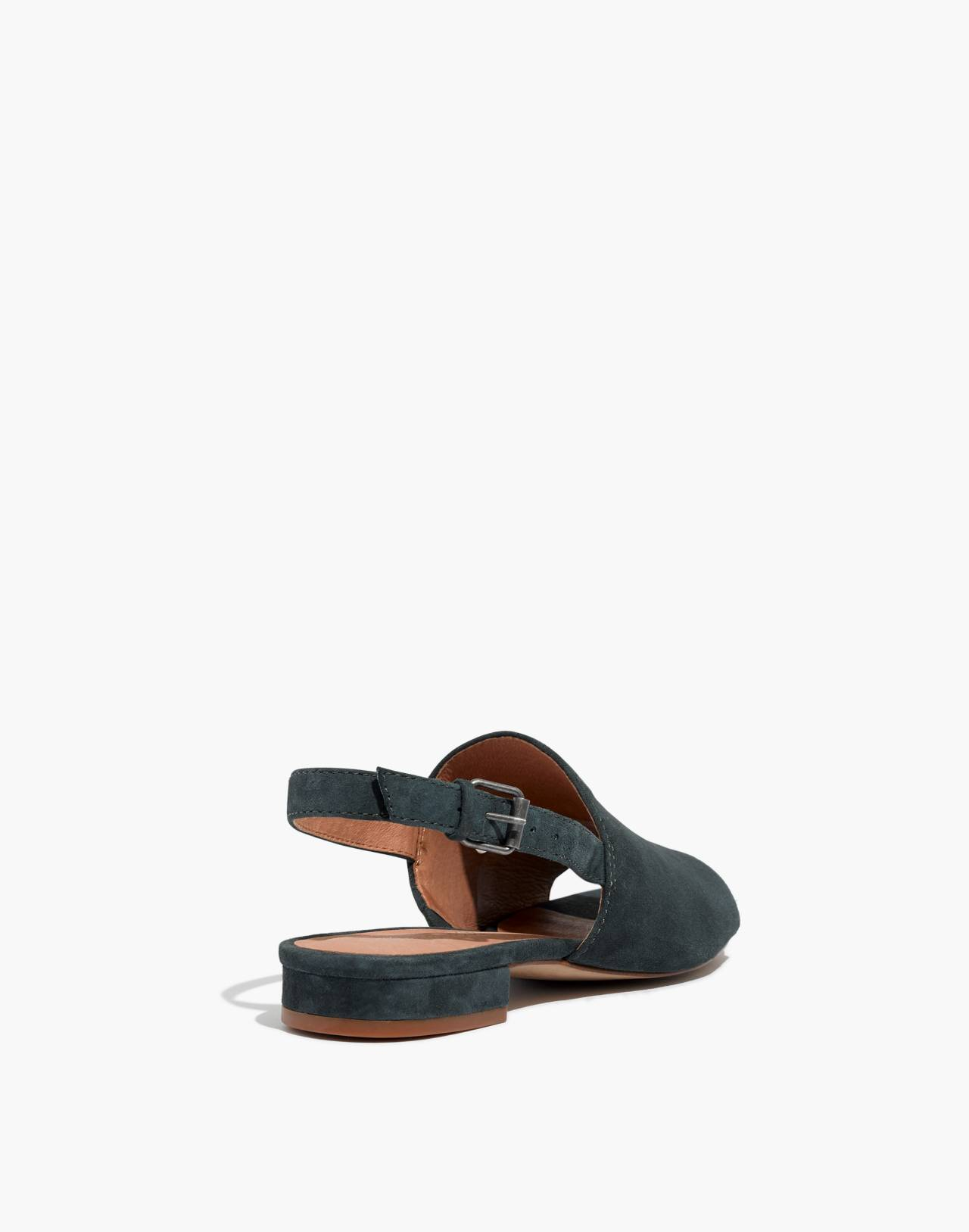 The Noelle Slingback Sandal in Suede in midnight spruce image 4