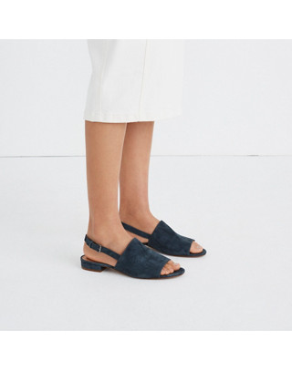 The Noelle Slingback Sandal in Suede in midnight spruce image 2