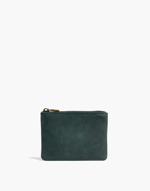 The Leather Pouch Wallet in smokey spruce image 1