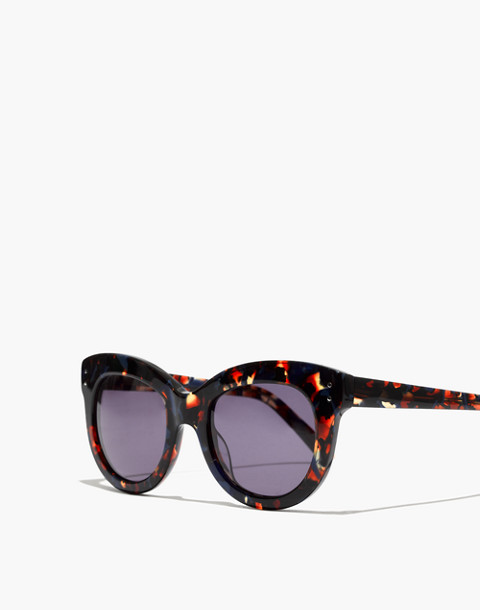 96395316c8 Pacific Cat-Eye Sunglasses in blue tiger tort image 2