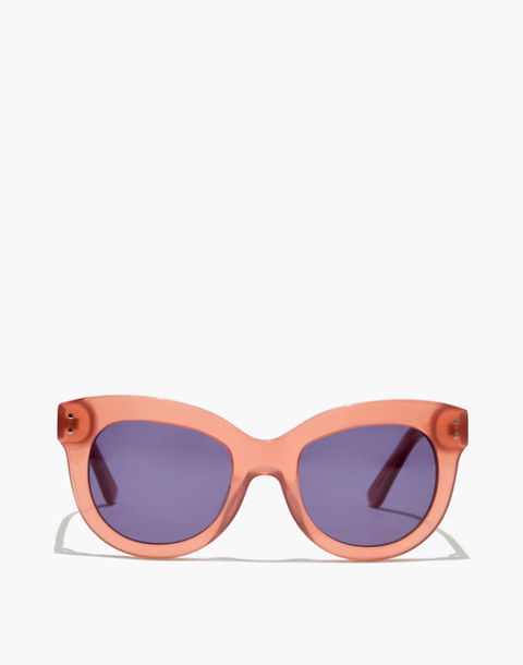 Pacific Cat-Eye Sunglasses in milky dried coral image 1
