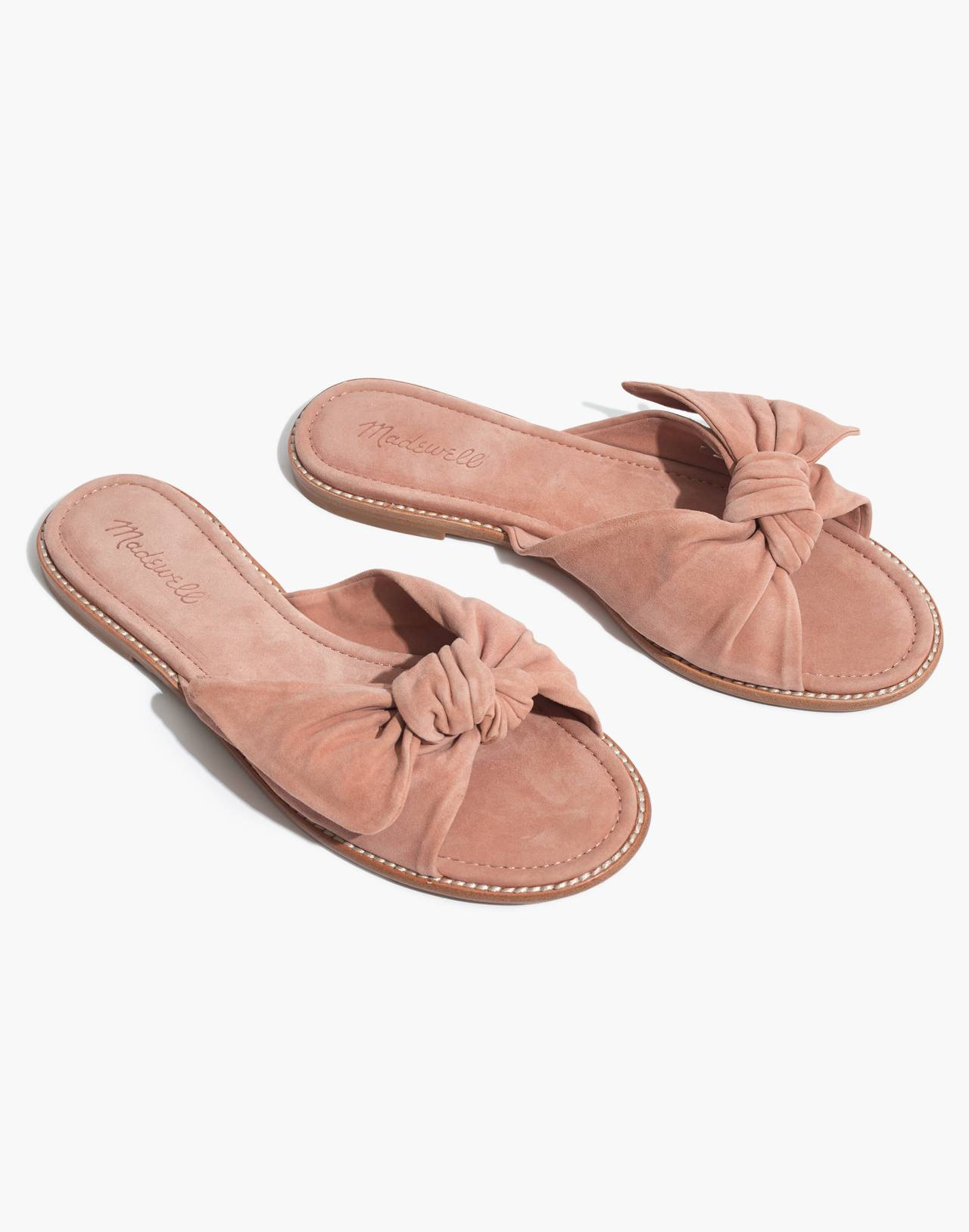 The Naida Half-Bow Sandal in dusty clay image 1