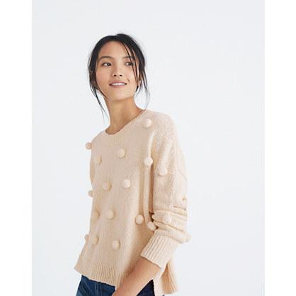 Pom-Pom Pullover Sweater