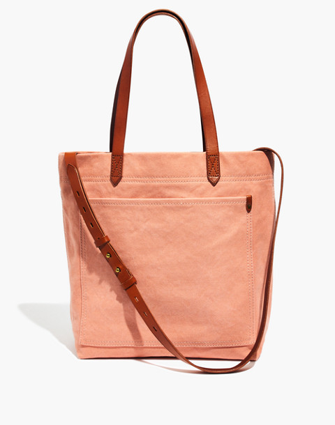 The Canvas Medium Transport Tote in antique coral image 1
