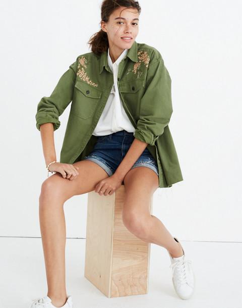 Embroidered Rabbit Shirt-Jacket