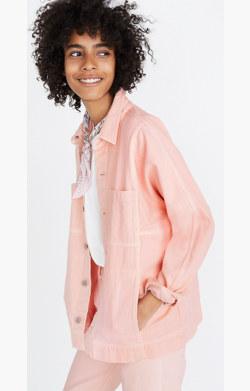 Pink Denim Chore Coat