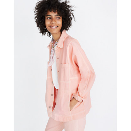 Pink Denim Chore Coat