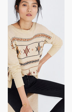 Embroidered Reseda Pullover Sweater