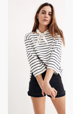 Striped Boatneck Top