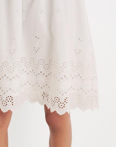 Eyelet Lattice Dress in white wash image 2