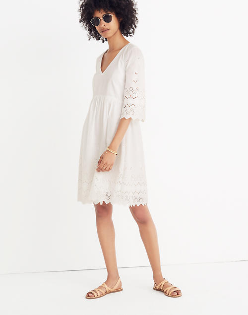 ff29a7f09e52 Eyelet Lattice Dress in null image 1