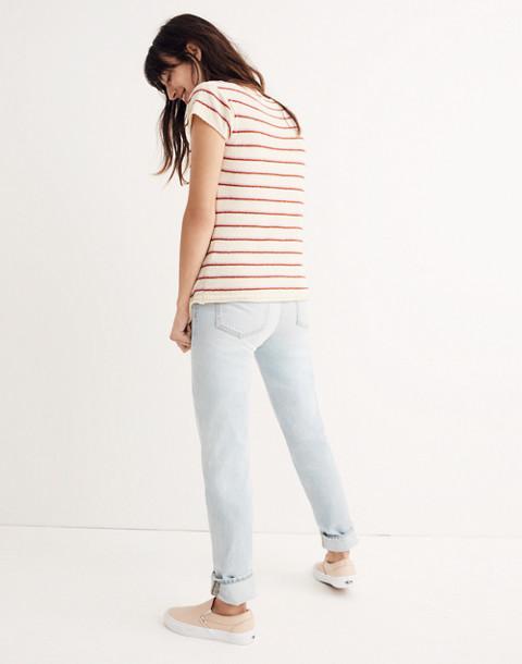 Marin Sweater Tee in Stripe in eggshell image 2