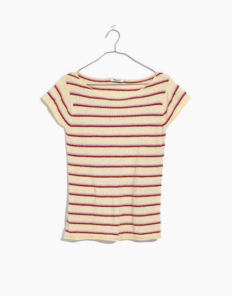 Marin Sweater Tee in Stripe in eggshell image 4
