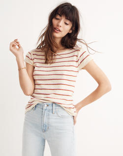 Marin Sweater Tee in Stripe