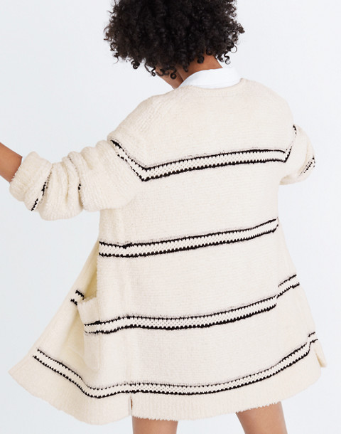 Striped Bouclé Cardigan Sweater