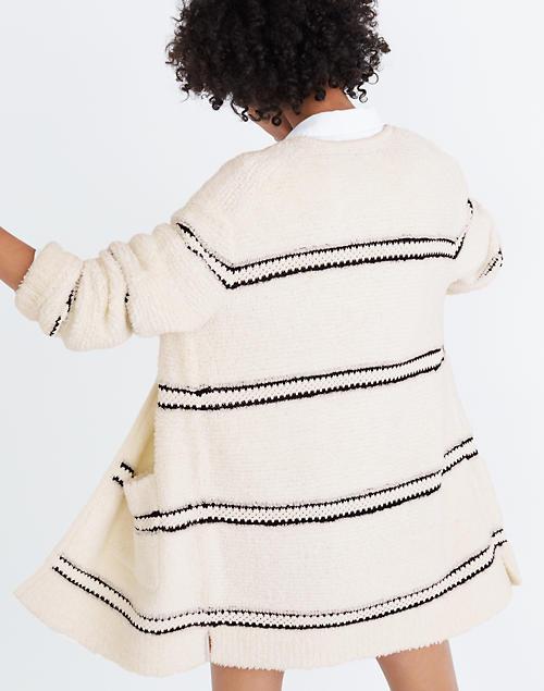 2cdf3159d Striped Bouclé Cardigan Sweater in null ...