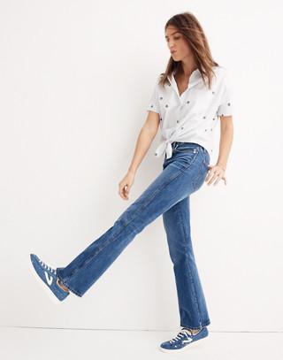 Tall Rigid Flare Jeans in delaford wash image 3