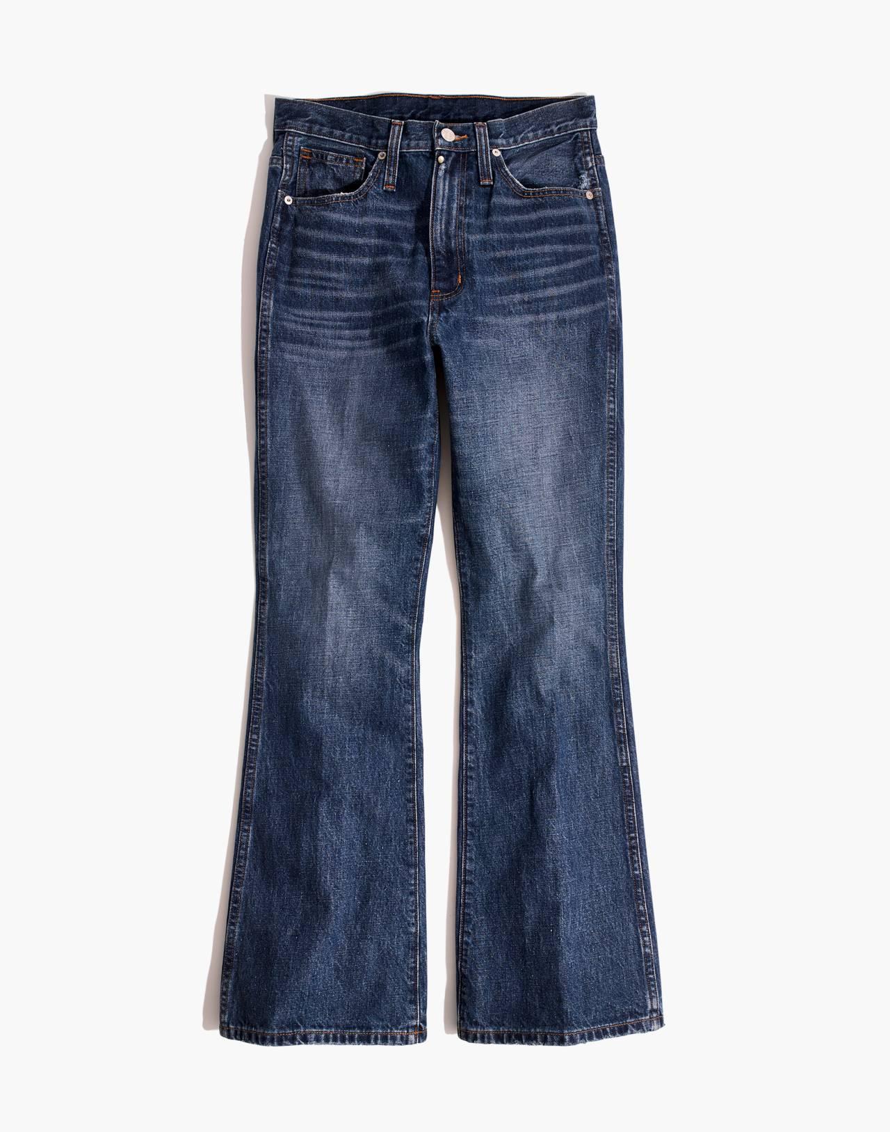 Tall Rigid Flare Jeans in delaford wash image 4