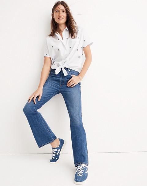 Rigid Flare Jeans in delaford wash image 1