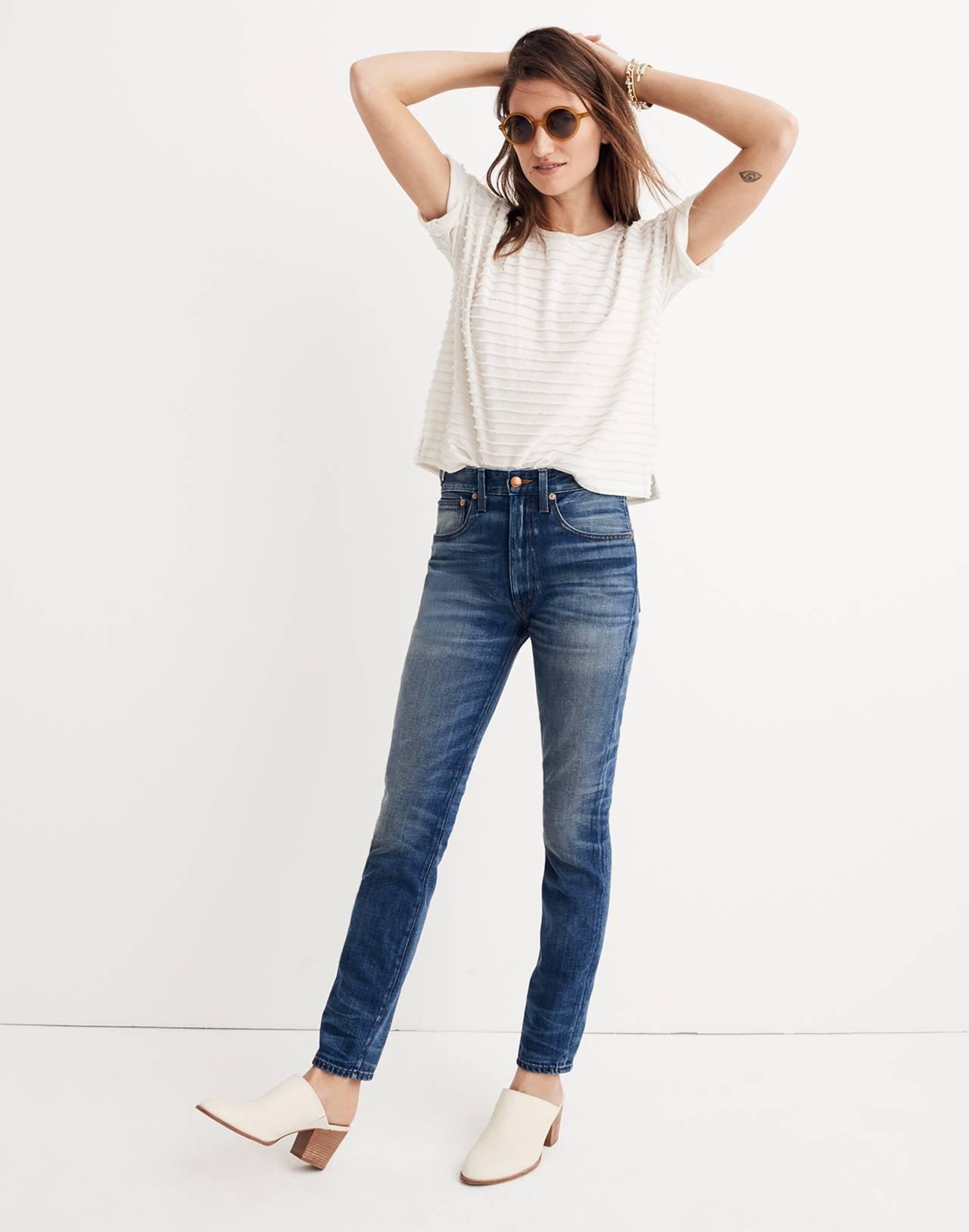Rivet & Thread Rigid Skinny Jeans: Step-Waist Edition in martinez image 2