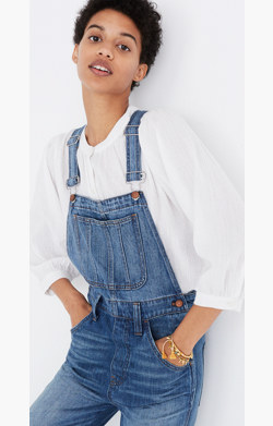 Straight-Leg Overalls in Bernard Wash