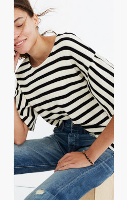 Striped Bell-Sleeve Top