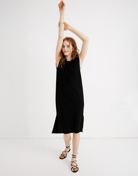 Muscle Midi Dress in true black image 2