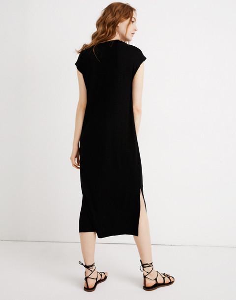 Muscle Midi Dress in true black image 3