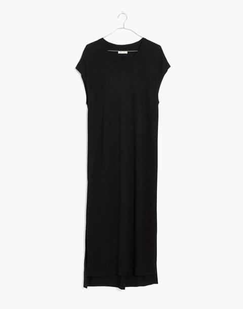 Muscle Midi Dress in true black image 4