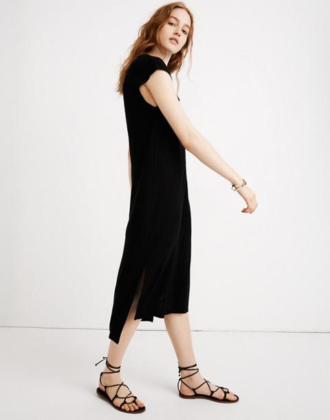 Muscle Midi Dress in true black image 1