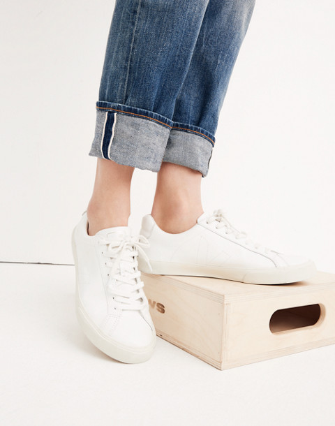 Madewell x Veja™ Esplar Low Sneakers in white gold image 2