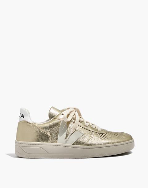 Veja™ V-10 Sneakers in Colorblock in gold image 3