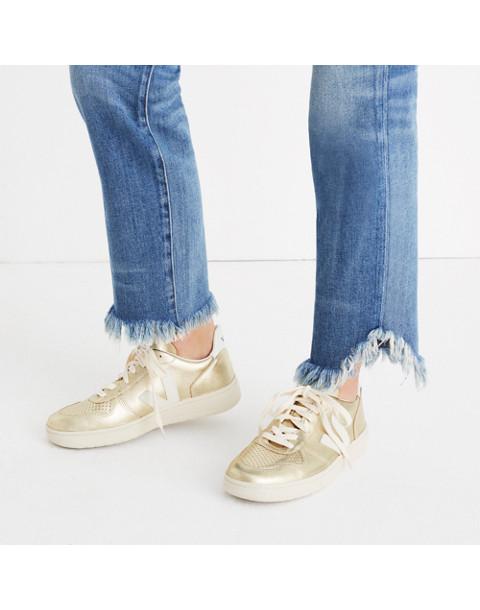 Veja™ V-10 Sneakers in Colorblock in gold image 2