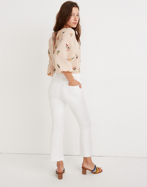 Tall Cali Demi-Boot Jeans in Pure White: Raw-Hem Edition in pure white image 2