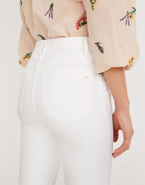 Tall Cali Demi-Boot Jeans in Pure White: Raw-Hem Edition in pure white image 3