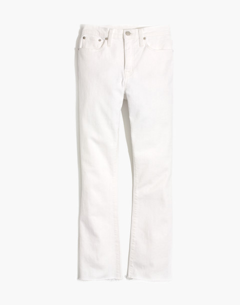 Tall Cali Demi-Boot Jeans in Pure White: Raw-Hem Edition in pure white image 4