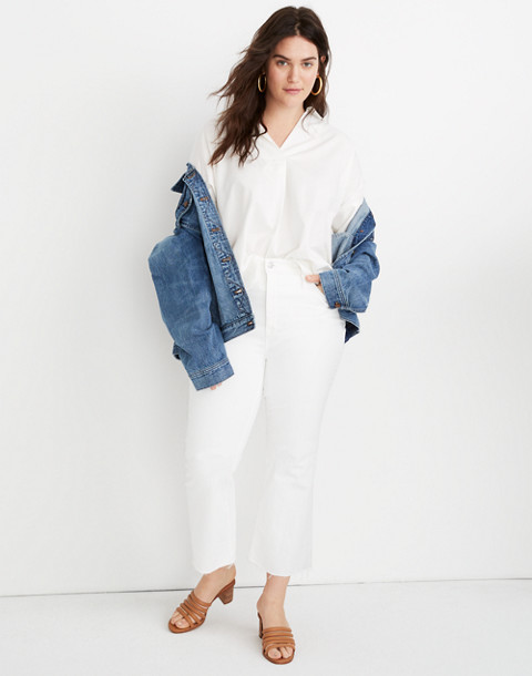 Tall Cali Demi-Boot Jeans in Pure White: Raw-Hem Edition in pure white image 1