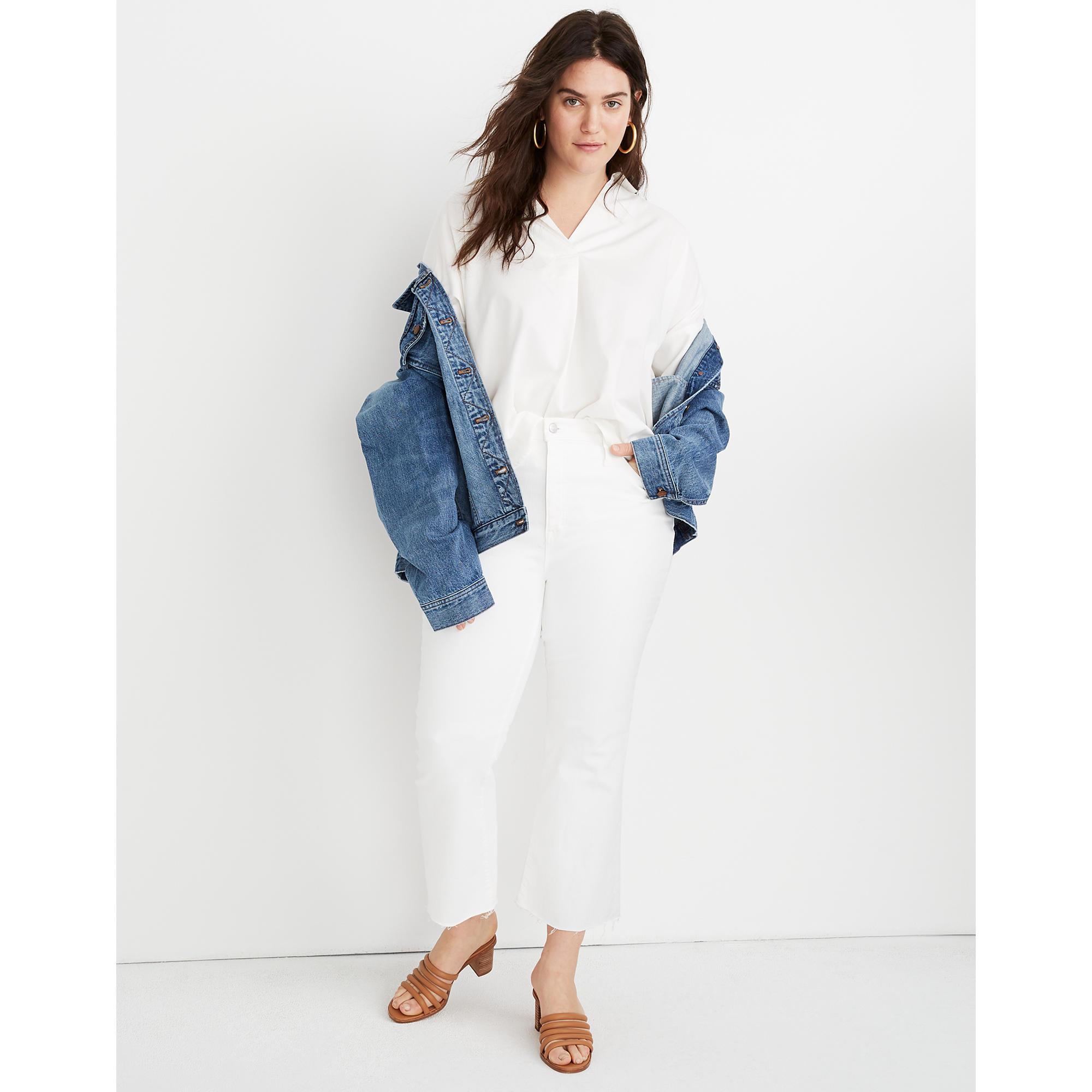 Madewell Cali Demi Boot white Jean