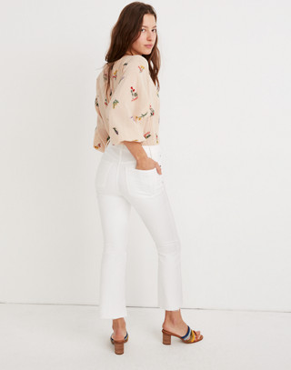 Tall Cali Demi-Boot Jeans in Pure White: Raw-Hem Edition