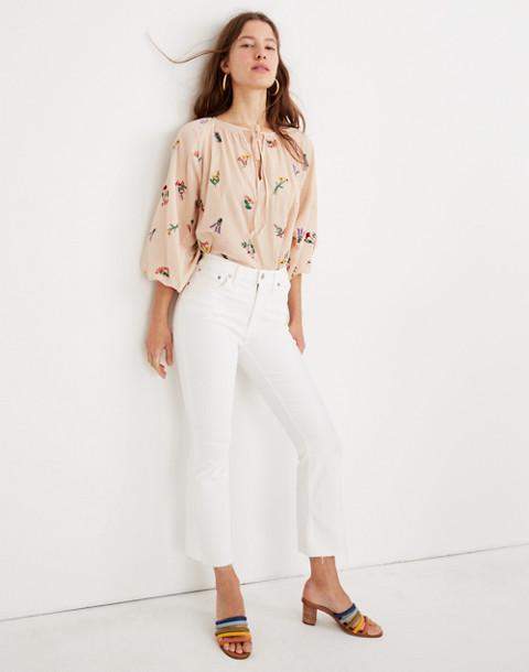Petite Cali Demi-Boot Jeans in Pure White: Raw-Hem Edition