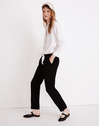 Cuffed Track Trousers in true black image 2