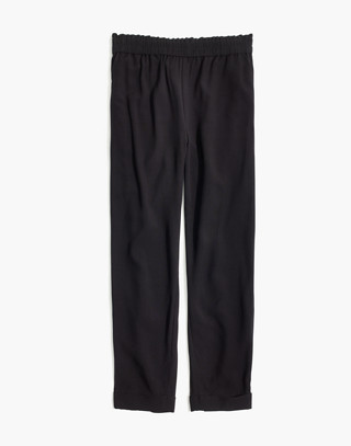 Cuffed Track Trousers in true black image 4
