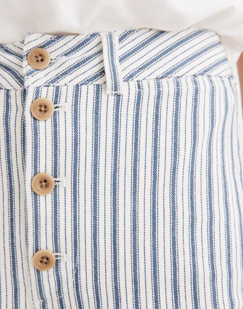 Emmett Wide-Leg Crop Pants in Stripe: Button-Front Edition