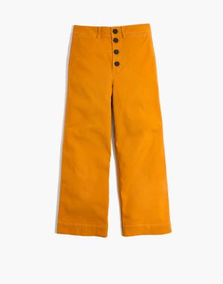 Tall Emmett Wide-Leg Crop Pants: Button-Front Edition