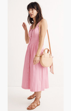 Pink Fleur Bow-Back Dress