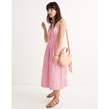 Pink Fleur Bow-Back Dress