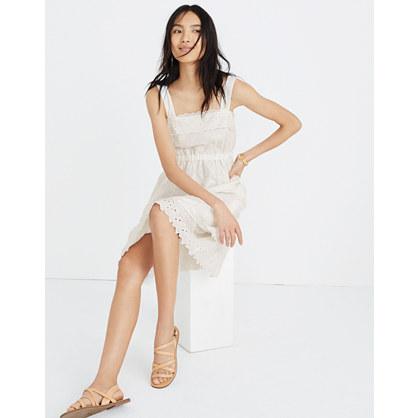 Eyelet Tiered Midi Dress