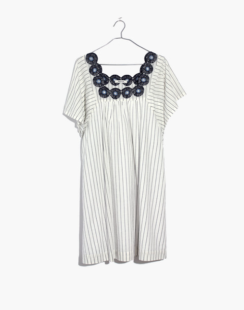 Embroidered Butterfly Dress in Stripe