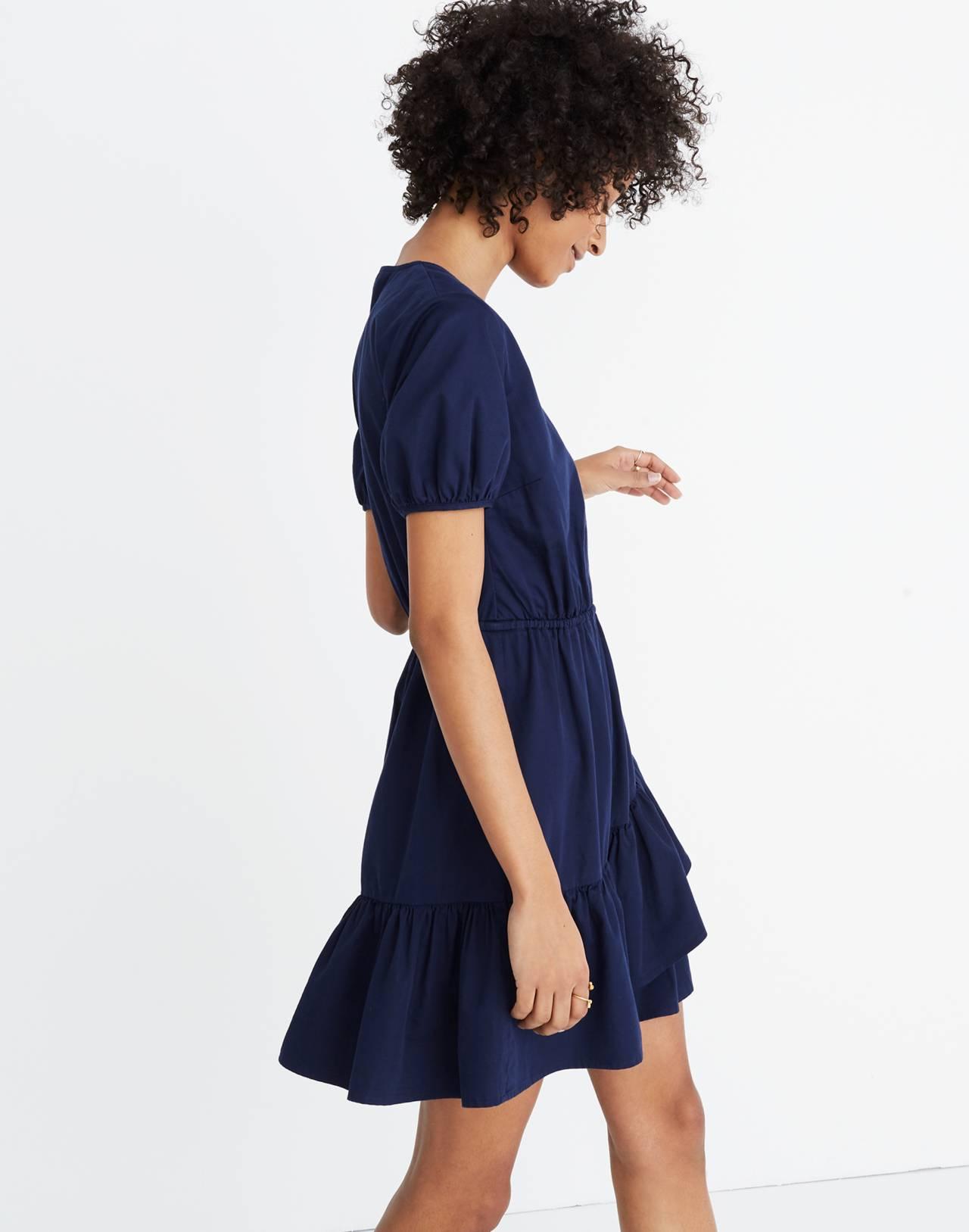 Ruffle-Wrap Dress in night sky image 2